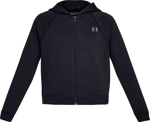 Under Armour Bluza damska Rival Fleece Full-Zip Hoodie czarna r. L (1328836-001)