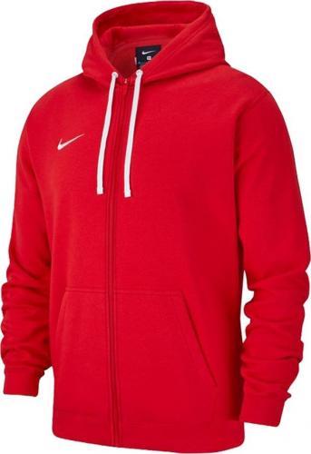 Nike Bluza dziecięca Hoodie FZ Y Team Club 19 czerwona r. 158-170cm (AJ1458 657)