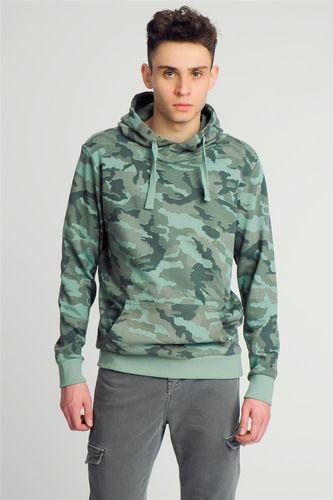 Sublevel Bluza męska moro z kapturem męska zielona r. XL