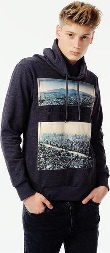 Sublevel Ciemnoszara bluza męska z nadrukiem Sublevel XL