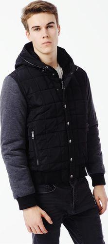 E-BOUND Kurtka męska krótka zimowa czarno-szara Ebound XL