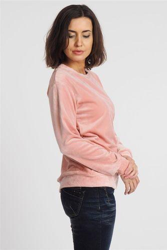 Eight2Nine Bluza bez kaptura damska welurowa różowa Eight2Nine L