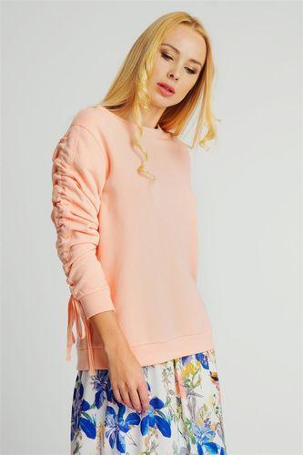 Rock Angel Bluza bez kaptura damska z wiązanymi rękawami różowa Rock Angel S