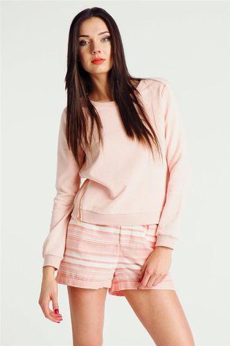 Rock Angel Bluza bez kaptura z zamkami damska różowa Rock Angel XL