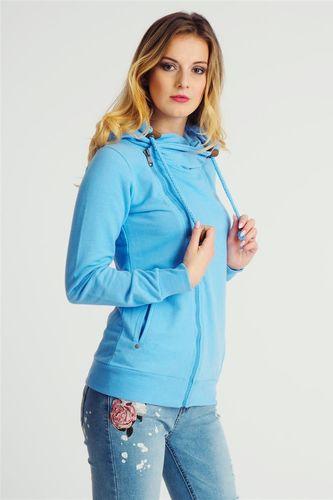 Sublevel Bluza z kapturem damska rozpinana niebieska Sublevel M