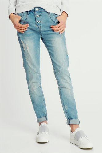 Sublevel Spodnie jeansowe damskie z dziurami Boyfriend fit Sublevel XL