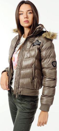 EMOI Krótka kurtka pikowana beżowa Emoi by Emonite L