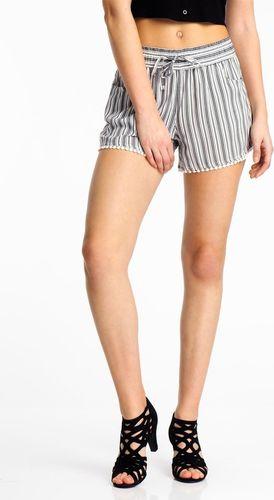 Fresh Made Szorty damskie - krótkie spodenki damskie w paski Fresh Made XL