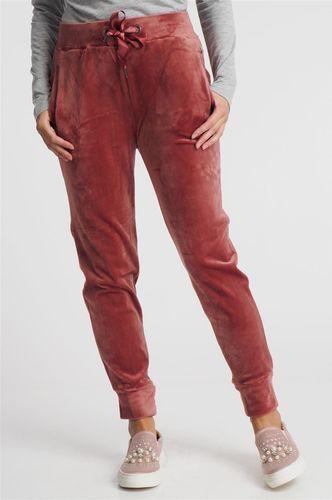 Eight2Nine Spodnie dresowe damskie welurowe różowe Eight2Nine 12042 XS