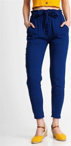 Fresh Made Spodnie materiałowe damskie papperbag niebieskie Fresh Made M