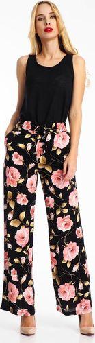 Haily`s Spodnie materiałowe damskie w kwiaty czarne Haily's S