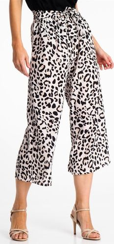 Haily`s Spodnie materiałowe damskie 3/4 typu culotte w cętki Haily's XXL