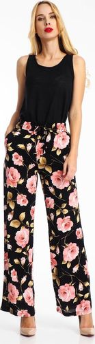 Haily`s Spodnie materiałowe damskie w kwiaty czarne Haily's XL