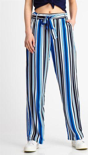 Sublevel Spodnie materiałowe damskie w paski niebieskie Sublevel XS