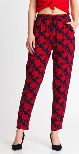 Sublevel Spodnie damskie materiałowe w kwiaty czerwone Sublevel XL
