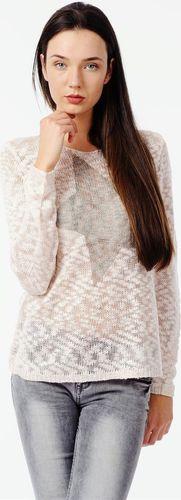 Sublevel Różowy ażurowy pulower z gwiazdą Sublevel XL