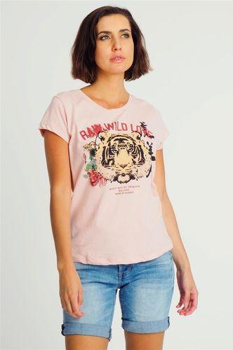 Sublevel Bluzka damska z motywem lwa różowa Sublevel S