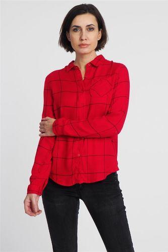 Haily`s Koszula w kratę damska czerwona Hailys XL