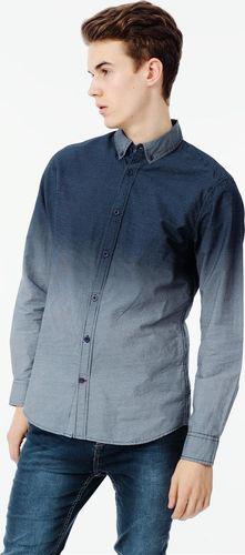 Ebound Niebieska klasyczna koszula męska ombre  L