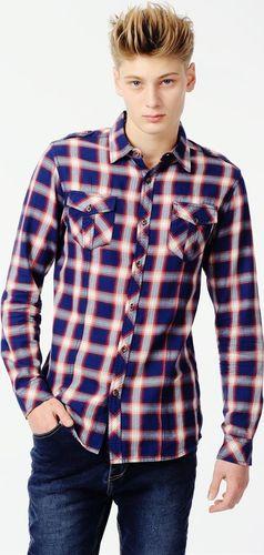 Ebound Klasyczna koszula męska w kratę E-Bound S