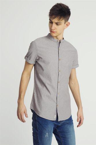 Urban Surface Koszula męska z krótkim rękawem szara Urban Surface M