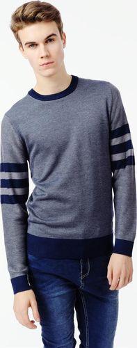 Ebound Niebieski klasyczny pulower męski E-Bound M