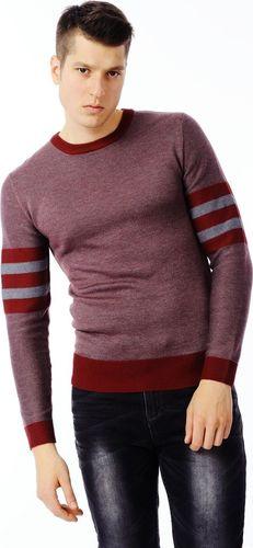 Ebound Bordowy klasyczny pulower męski E-Bound L