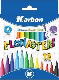 Eurocom Flamastry 12 kolorów KARBON