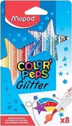 Maped Flamastry brokatowe 8 kolorów