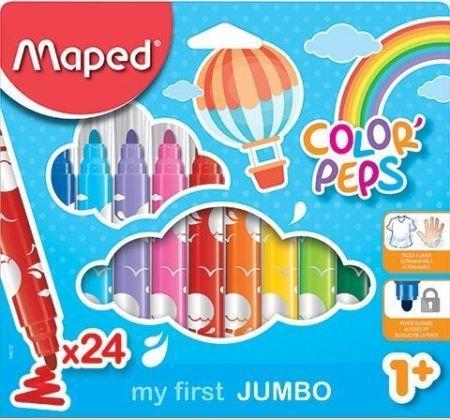 Maped Flamastry Jumbo Colorpeps 24 kolory