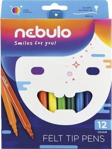 Nebulo Flamastry 12 kolorów NEBULO (334229) - 5999885430321