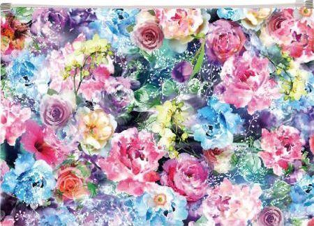 Panta Plast Koperta z nadrukiem zip A4 PP Roses