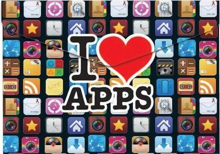 Panta Plast Koperta A4 na napę z nadrukiem Apps