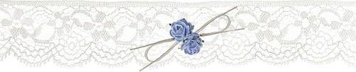 Party Deco Podwiązka ślubna  koronkowa z różyczkami, kremowa uniwersalny