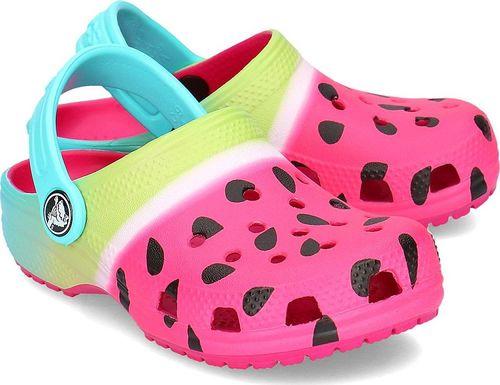 Crocs Crocs Classic Ombre Graphic Clog - Klapki Dziecięce - 205653 CANDY PINK 22/23