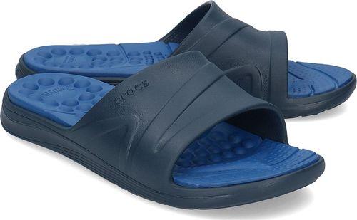 Crocs Crocs Reviva Slide - Klapki Męskie - 205546 NAVY/BLUE JEAN 39/40