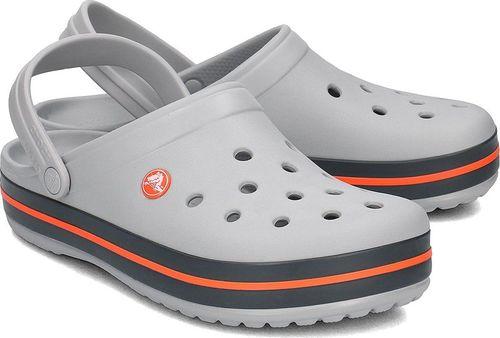 Crocs Crocs Crocband - Klapki Męskie - 11016-01U LIGHT GREY/NAVY 41/42