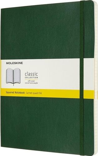 MOLESKINE Notes 19x25 kratka myrtle zielony