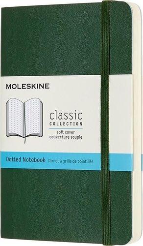 MOLESKINE Notes 9x14 kropki myrtle zielony