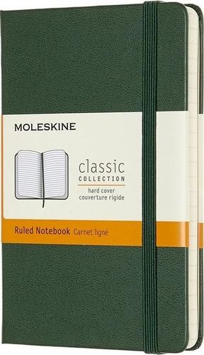 MOLESKINE Notes Classic 9x14 tw. linie - myrtle zielony