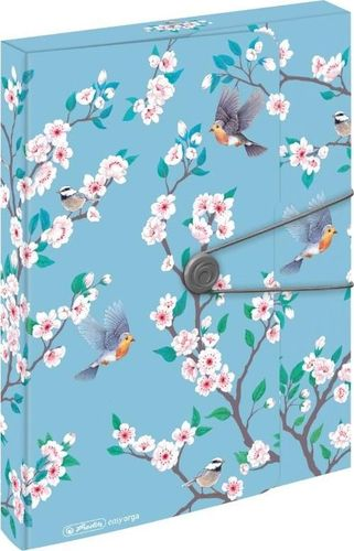 Herlitz Teczka A4 PP z gumką Ladylike birds