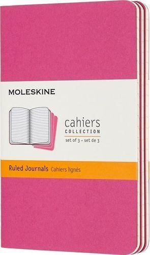 MOLESKINE Zestaw 3 zeszytów Cahier Journals 9x14 linie różowy (322966)