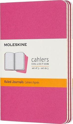 MOLESKINE Zestaw 3 zeszytów Cahier Journals 9x14 gładki rózowy (322970)