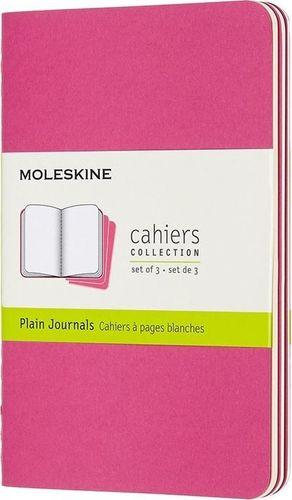 MOLESKINE Zestaw 3 zeszytów Cahier Journals linie różowy