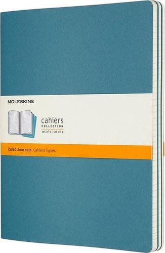 MOLESKINE Zestaw 3 zeszytów Cahier Journals 19x25 linie niebieski