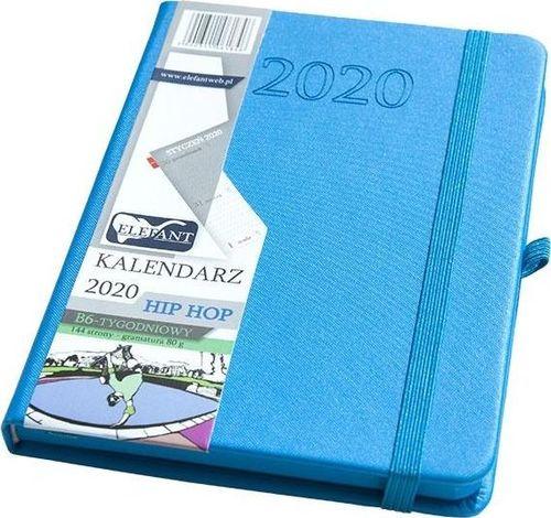 Elefant Kalendarz 2020 B6 tyg. Hip hop niebieski ELEFANT