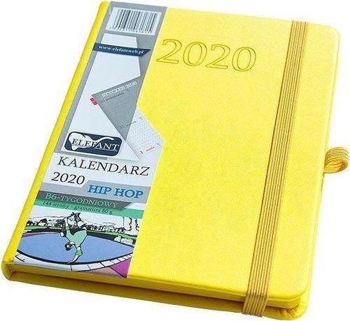 Elefant Kalendarz 2020 B6 tyg. Hip hop żółty ELEFANT