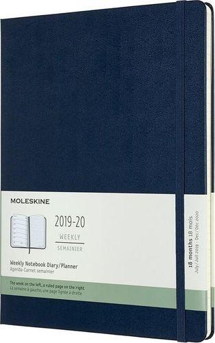 MOLESKINE Kalendarz 2019/20 tyg. 18MXL tw. sapphire blue