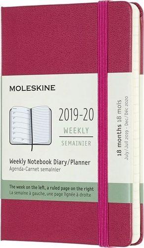 MOLESKINE Kalendarz 2019/20 tyg. 18MP tw. snappy pink