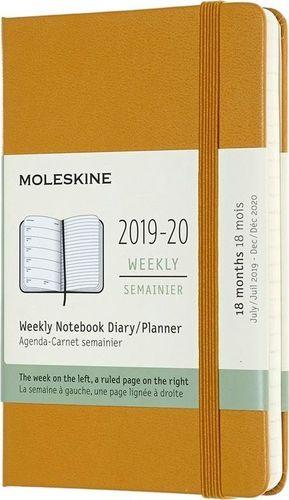 MOLESKINE Kalendarz 2019/20 tyg. 18MP tw. ripe yellow